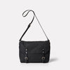 Jeremy Small Waxed Cotton Satchel in Black-SMALL CROSS BODY-Ally Capellino-Ally Capellino-Black-Waxed_Cotton