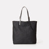 Natalie Waxed Cotton Tote in Black-Totes-Ally Capellino-Ally Capellino