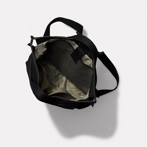 Ashley Waxed Cotton Multi-Pocket Backpack in Black for Men and Women