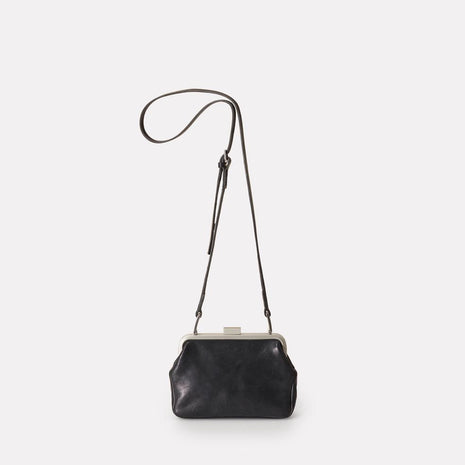 Dusty Calvert Leather Mini Frame Bag in Black