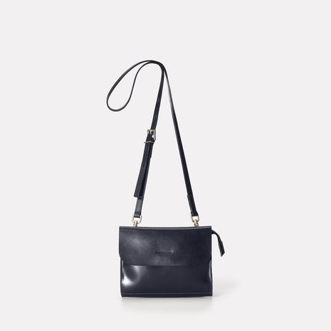 Jean Leather Mini Crossbody Bag in Navy