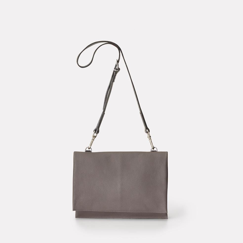 Valerie Leather Crossbody Bag in Grey