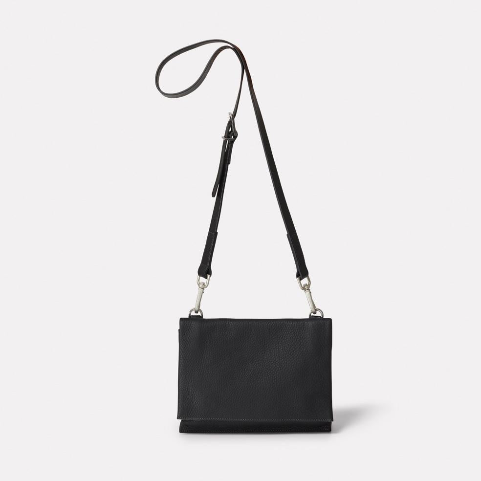 Irenie Small Rochelle Leather Crossbody Bag in Black