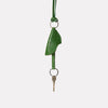 Kamal Stitched Leather Key Ring Lanyard in Green for Men and Women