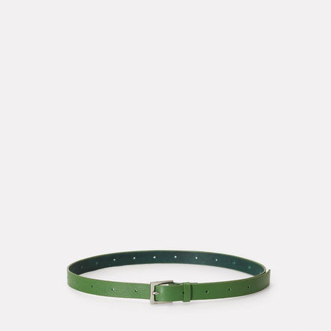 Arty Leather Belt in Avocado