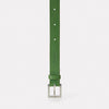 Arty 2cm Leather Belt in Green for men and women
