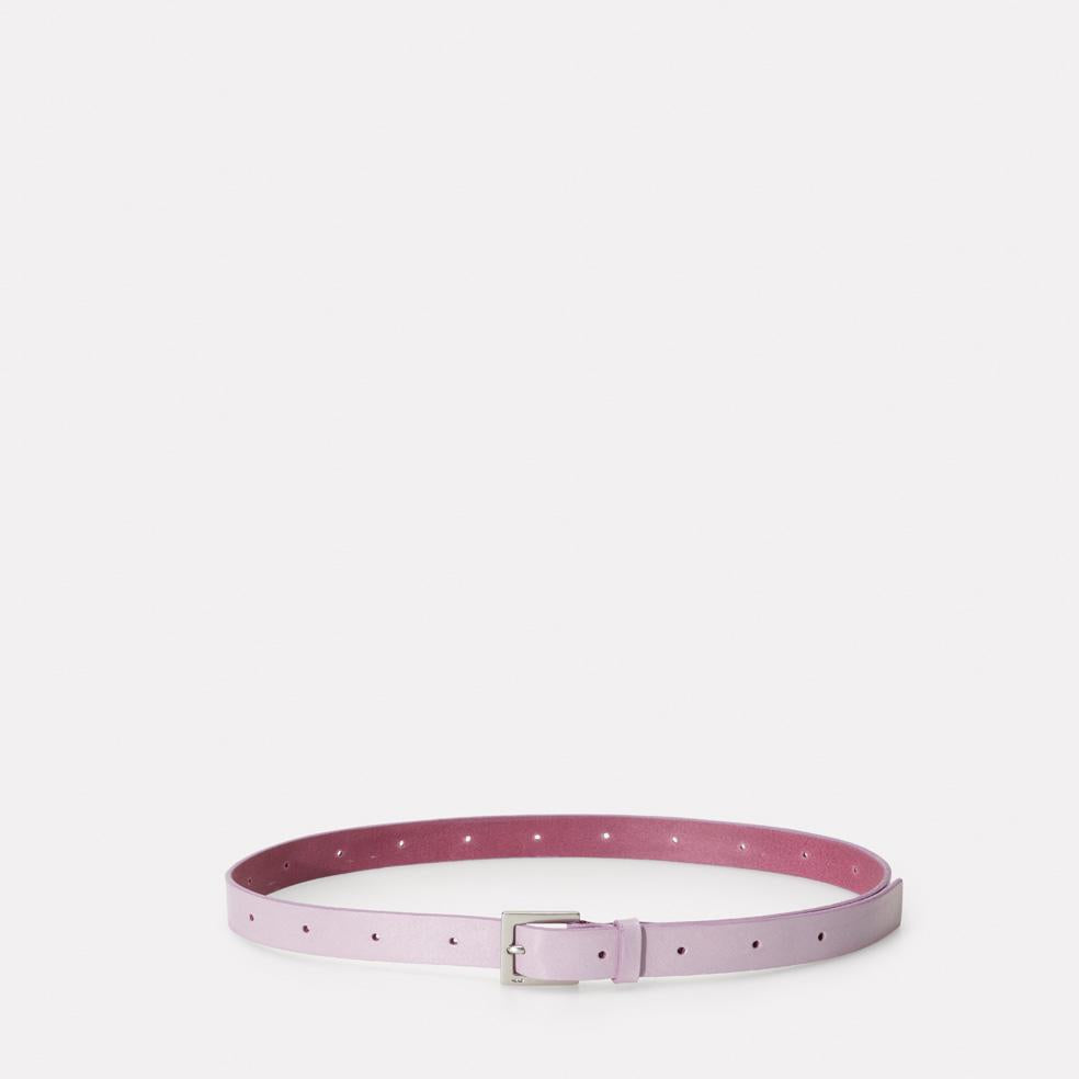 Arty 2cm Leather Belt in Lilac Purple for Men and Women