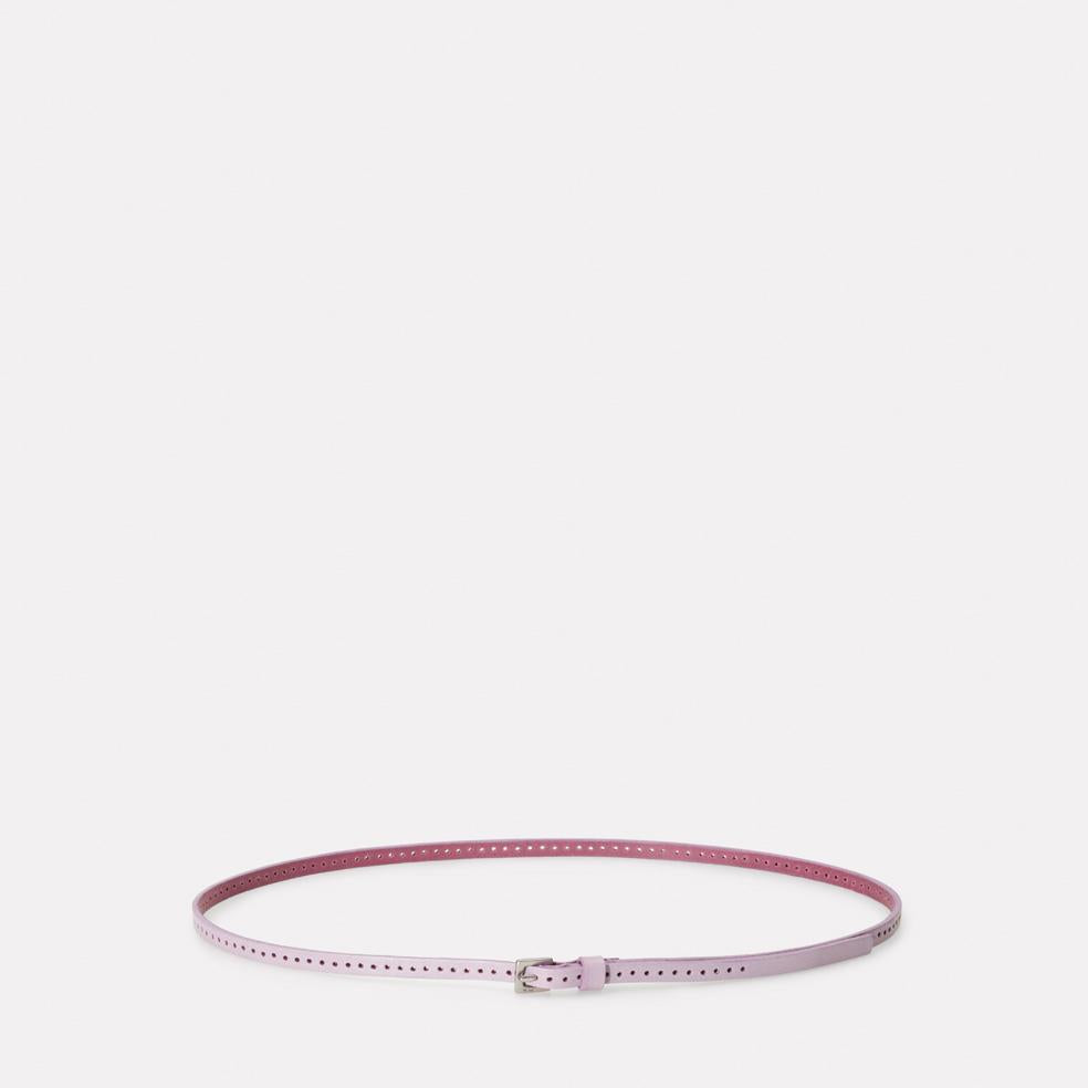 Bibitty Slim Leather Belt in Lilac