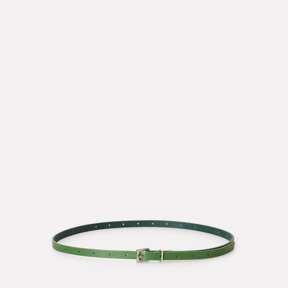 Etty Slim Leather Belt in Avocado