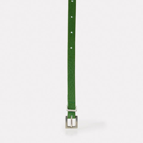 Etty Fully Adjustable Skinny Leather Belt in Green for Women