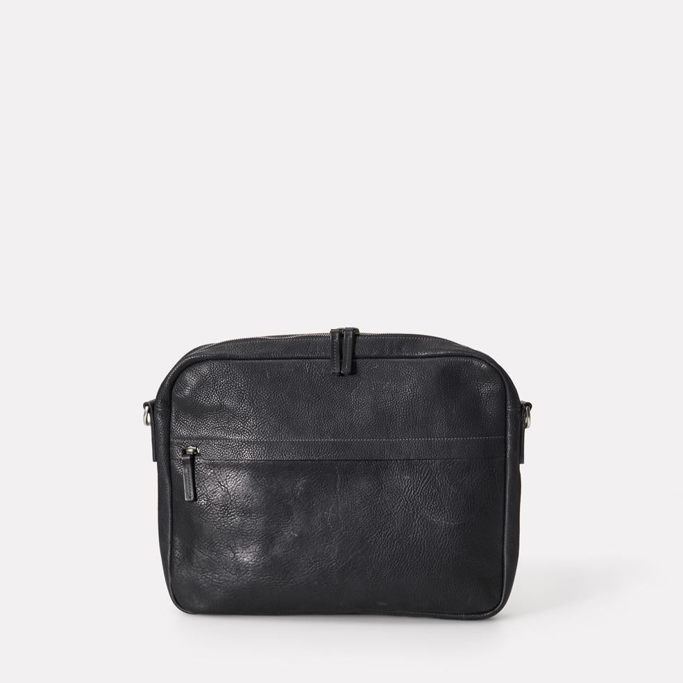 Emil Calvert Leather Shouler Bag in Black