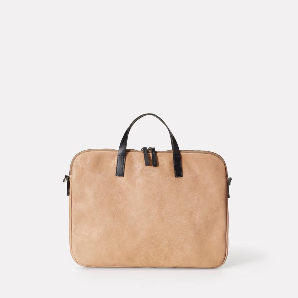 Gaudi Calvert Leather Folio Bag in Clay