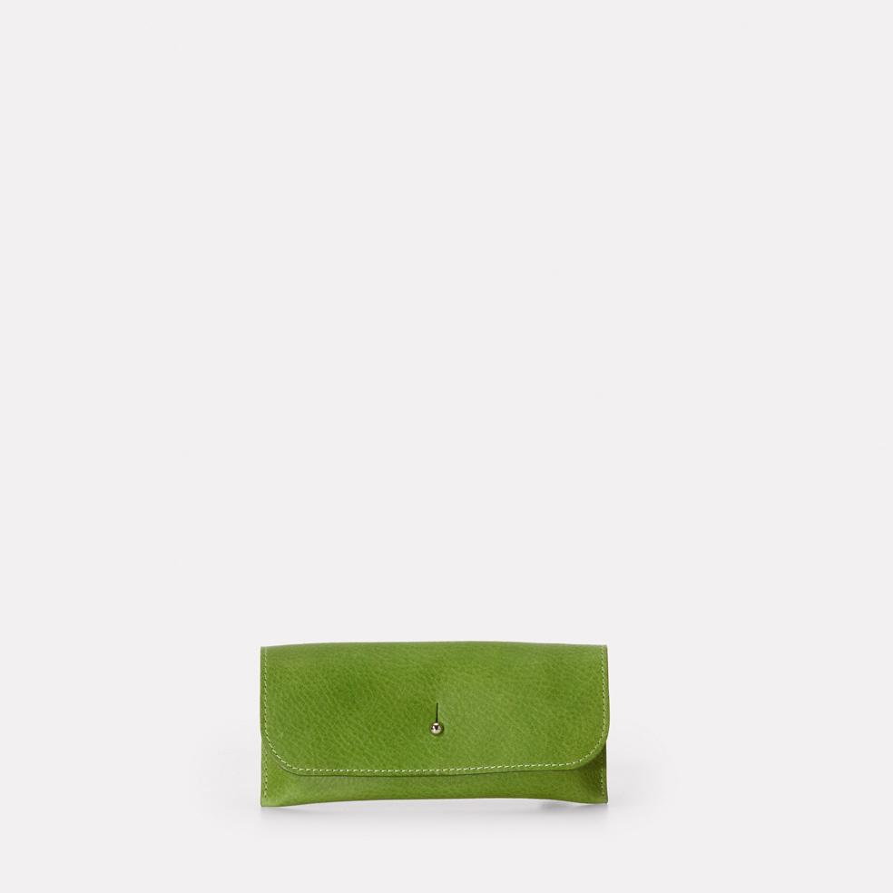 Kit Leather Glasses Case in Green For Women and Men