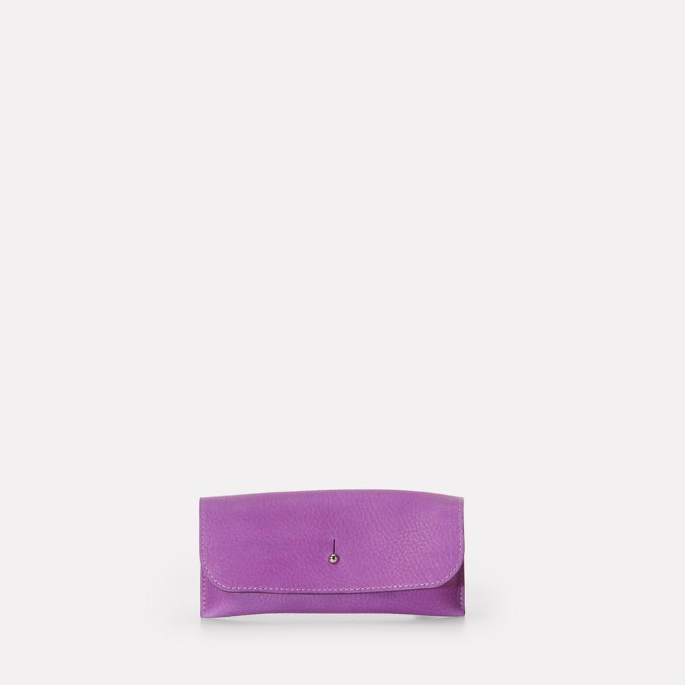 Kit Leather Glasses Case in Purple