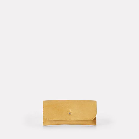 Kit Leather Glasses Case in Yellow For Women and Men