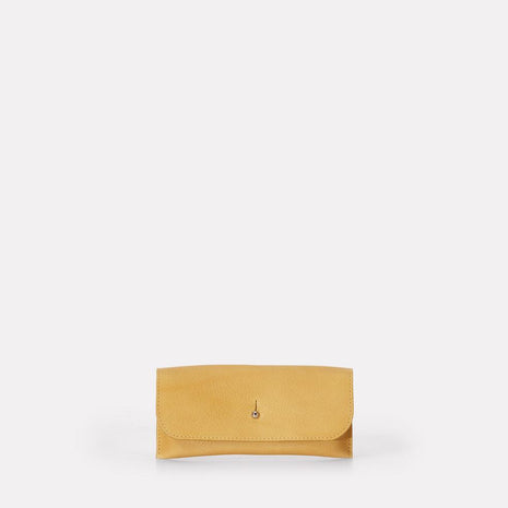 Kit Leather Glasses Case in Yellow