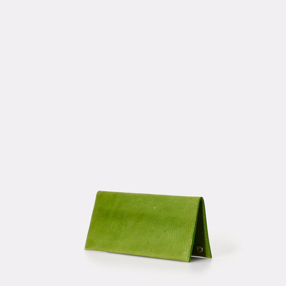 Evie Long Leather Wallet in Green For Women