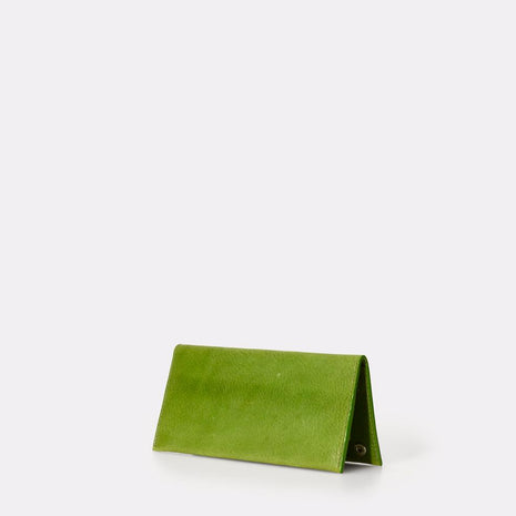 Evie Long Leather Wallet in Green