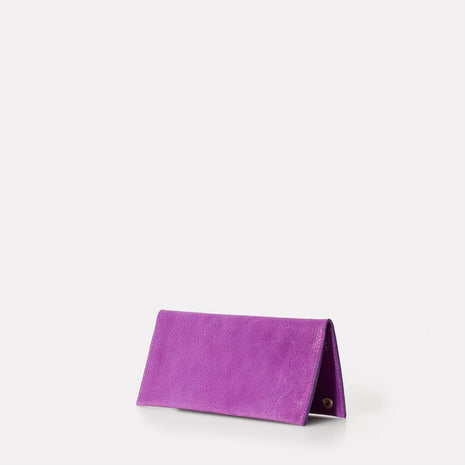 Evie Long Leather Wallet in Purple
