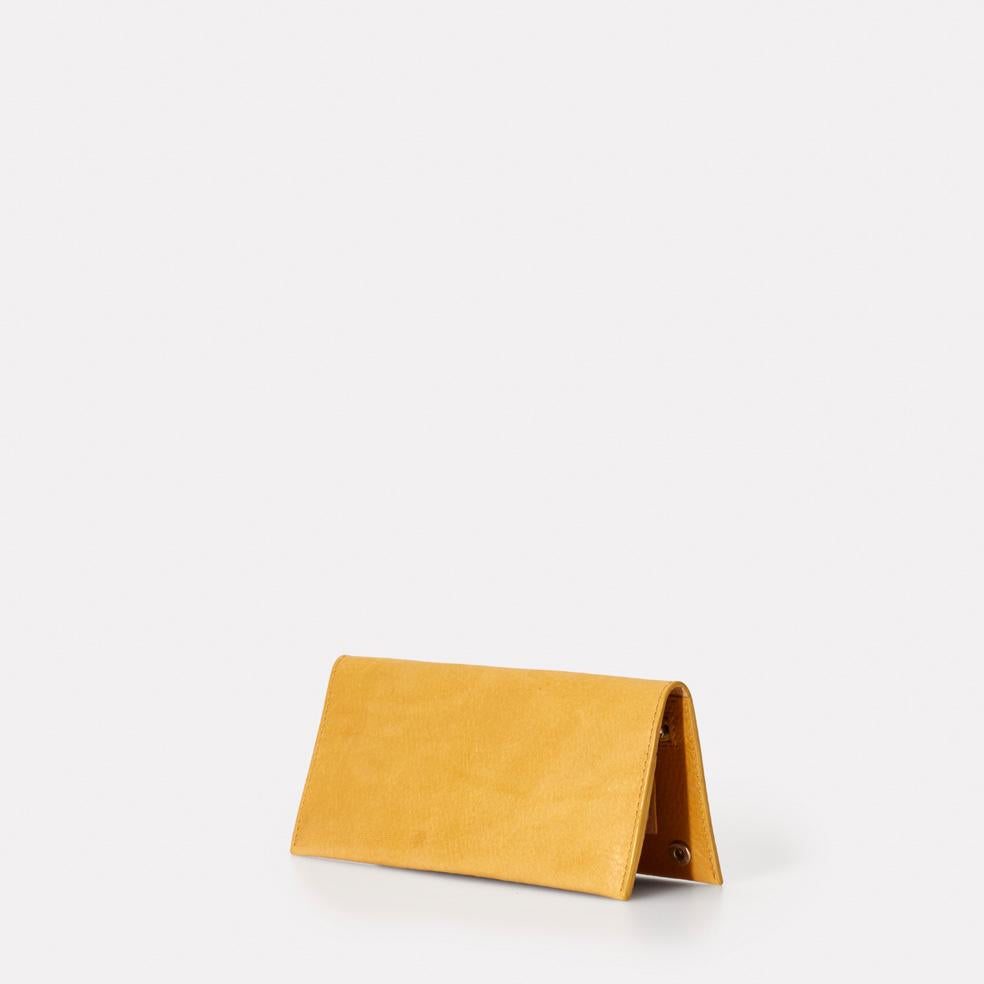 Evie Long Leather Wallet in Yellow