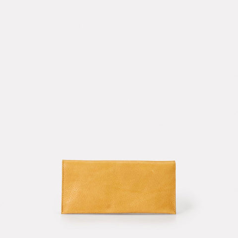 Evie Long Leather Wallet in Yellow For Women