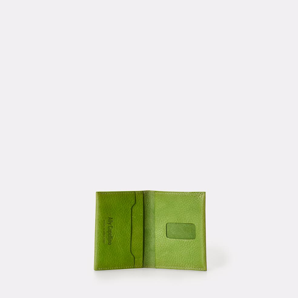 Fletcher Slim Leather Multiple Card Holder in Green For Men and Women