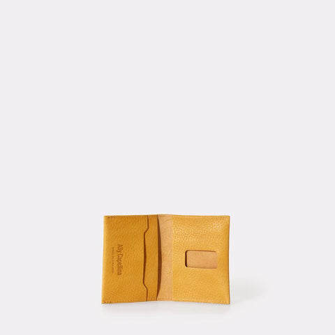 Fletcher Slim Leather Multiple Card Holder in Yellow For Men and Women