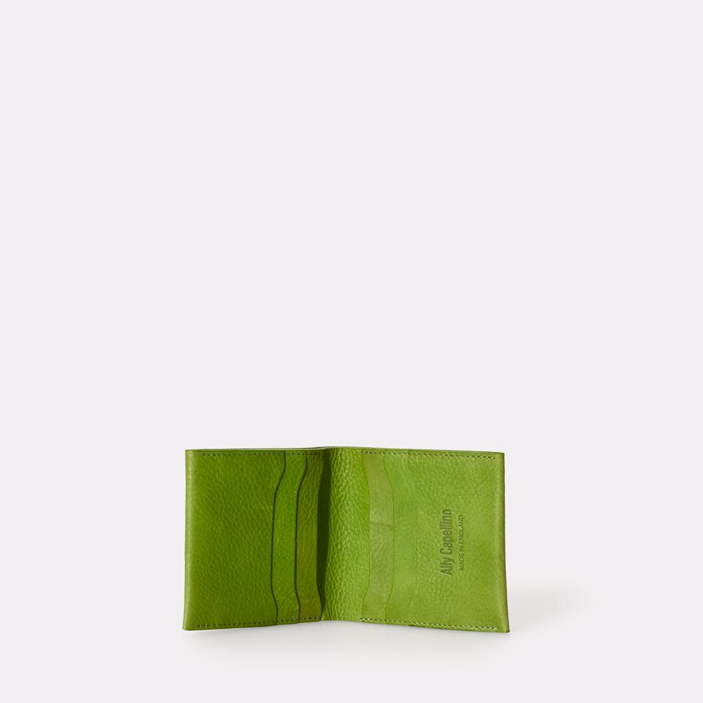 Oliver Slim Leather Wallet For Notes and Cards in Green for Men and Women