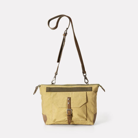 Francesca Waxed Cotton Crossbody Bag in Gooseberry