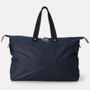 Freddie Waxed Cotton Holdall in Navy & Grey
