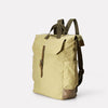 Ashley Waxed Cotton Multi-Pocket Backpack in Pale Green for Men and Women