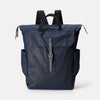Fin Waxed Cotton Utility Rucksack in Navy & Grey