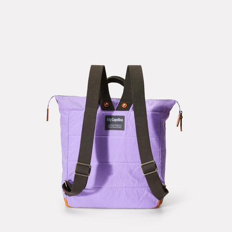 Frances Waxed Cotton Utility Rucksack in Lilac