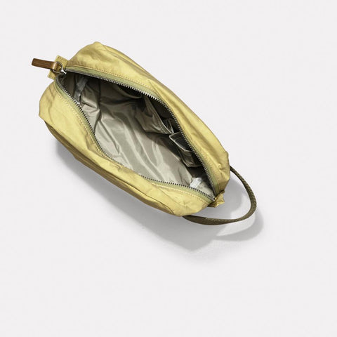 Mini Simon Waxed Cotton Washbag With Nylon lining in Pale Green For Men and Women