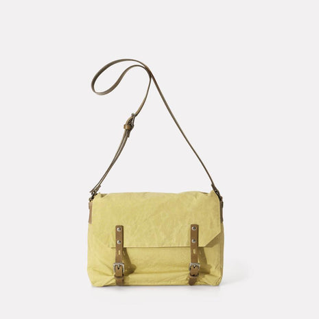 Jez Waxed Cotton Satchel in Gooseberry