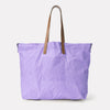 Billy Oversized Waxed Cotton Tote in Lilac
