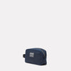 Mini Simon Waxed Cotton Washbag in Navy & Grey