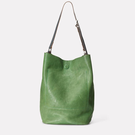 Roz Calvert Leather Bucket Bag in Avocado