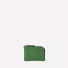 Tina Calvert Leather Zip Round Pouch in Avocado