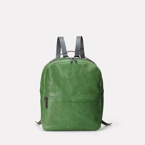 Sandy Small Calvert Leather Rucksack in Avocado