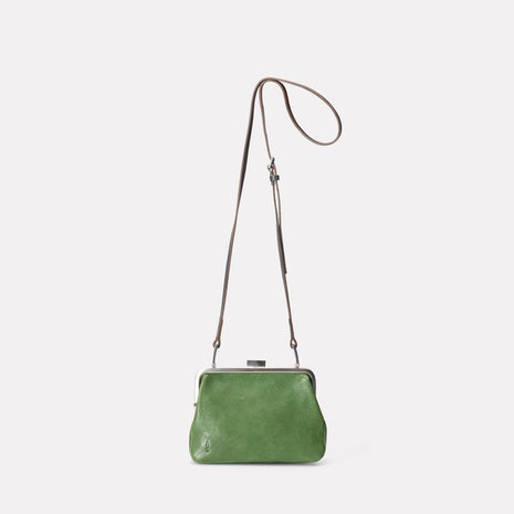 Dusty Calvert Leather Mini Frame Bag in Avocado