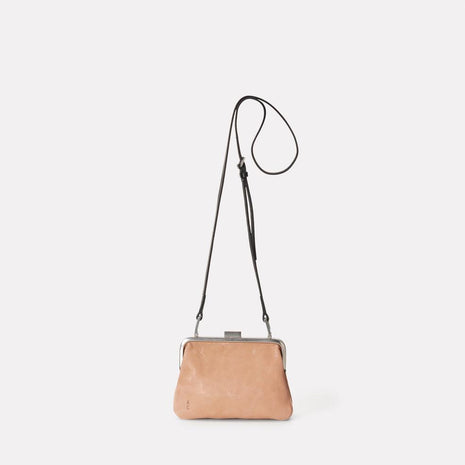 Dusty Calvert Leather Mini Frame Bag in Clay