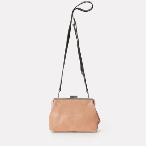 Shirley Calvert Leather Frame Bag in Clay