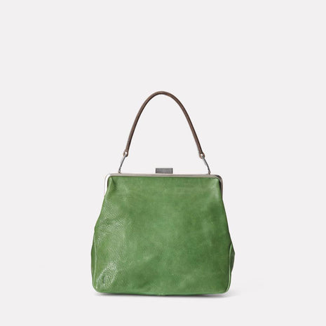 Susan Calvert Leather Frame Bag in Avocado