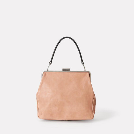 Susan Calvert Leather Frame Bag in Clay