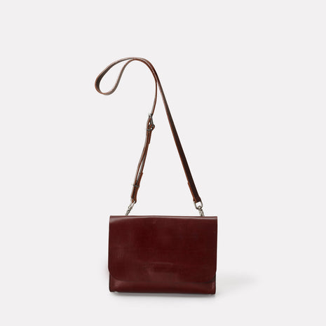 Elizabeth Small Leather Crossbody Bag in Dark Red