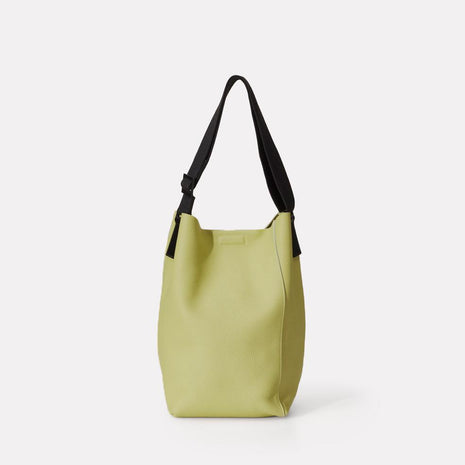 Vivienne Raw Cut Bucket Bag in Celery