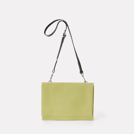 Valerie Leather Crossbody Bag in Celery