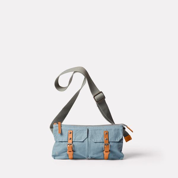 Adam Waxed Cotton Belt Bag in Blue