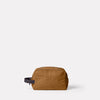 Simon Waxed Cotton Washbag in Breen Front